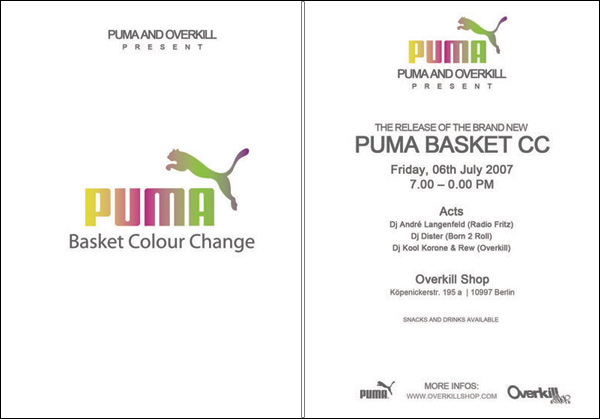 "Puma Basket ""Colour Change"" - Instore Release @ Overkill 