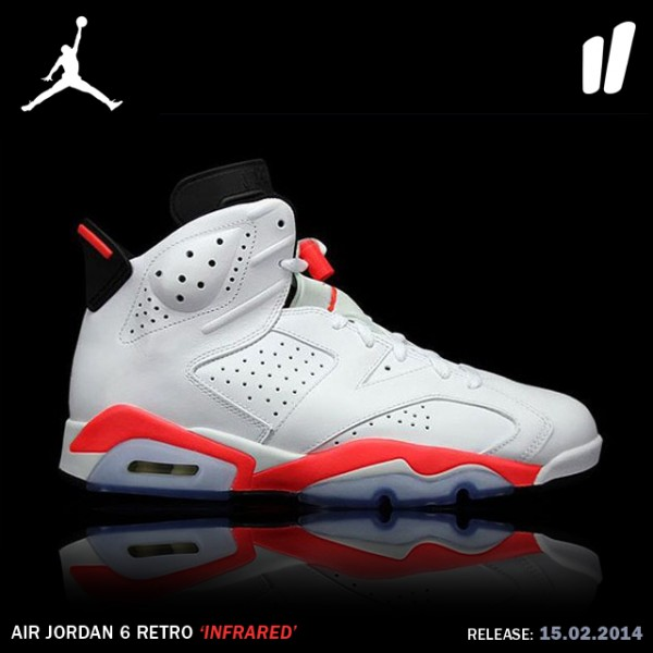Jordan 6 Retro Infrared White (2014)